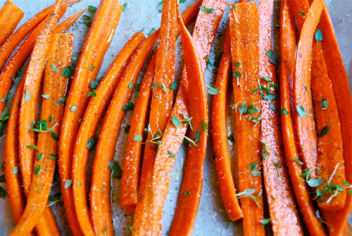 Carrots with thyme and honey smoked butter